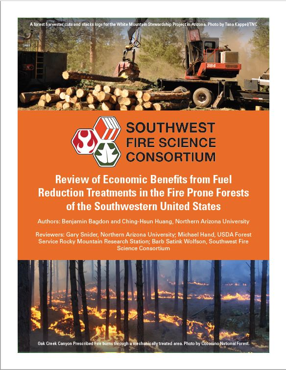 Review Of Economic Benefits From Fuel Reduction Treatments In The Fire Prone Forests Of The Southwestern United States